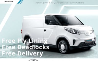 The NEW Maxus eDeliver 3 Special Offer for January