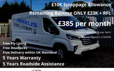 Limited Offer – Maxus Deliver9 LH with Luxury Pack