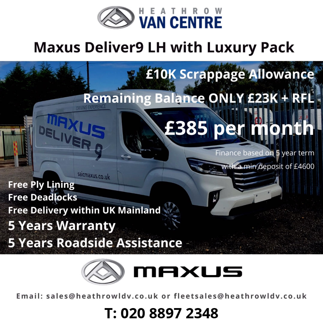 Maxus Deliver9 LH with Luxury Pack available at Heathrow Van Centre