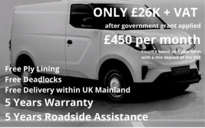 Limited Time Offer – Maxus E Deliver 3 LH